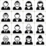 Male and Female User Vector Icons Set Stock Images