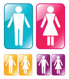 Male and female WC sign. Stock Photos
