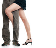 Male and female on white background Stock Photos