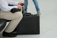 Male figure with baggage Stock Photography