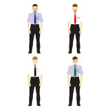 Male figures avatars, icons. Business people. Royalty Free Stock Image