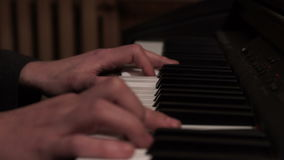 Male fingers piano play. Musical instrument playing. Music piano play. Male fingers piano play. Musical instrument playing. Close up male hand musician playing stock footage