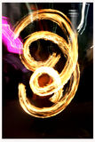 Male fire dancing Royalty Free Stock Photo
