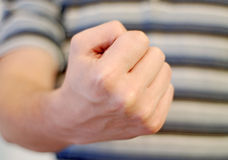 Male fist. Picture of male fist close up royalty free stock photography