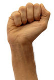 Male fist. Isolated on white royalty free stock image