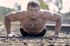 Male Fitness Athlete Stock Photography