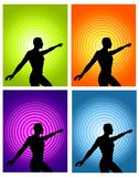Male Fitness Silhouette Backgrounds Royalty Free Stock Image