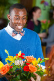 Male Flower Shop Customer Royalty Free Stock Images
