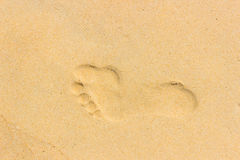 Male footprint Stock Photo