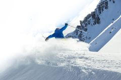 Male freerider skier Stock Photography