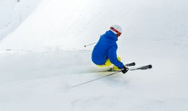 Male freerider skier Stock Image
