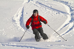 Male freeriding backcountry. Male is freeriding backcountry austria Stock Photo