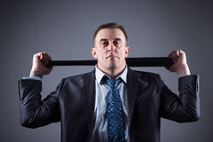 Male gangster with baseball bat Stock Photo