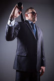 Male gangster with baseball bat Royalty Free Stock Photos