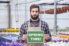 Male Garden Worker Royalty Free Stock Photography