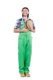Male gardener isolated on white Stock Images