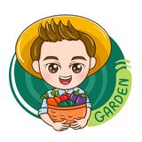 Male_gardener_vector illustrazione di stock