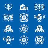 Male gender creative and unusual icons set, vector symbols colle Stock Photo