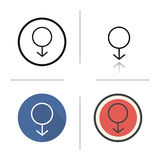 Male gender icon Royalty Free Stock Photos