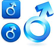 Male Gender Symbols Stock Images