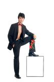 Male gigolo advertising Royalty Free Stock Photo