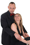 Male gigolo and woman admirer Royalty Free Stock Image