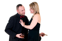 Male gigolo and woman admirer Royalty Free Stock Photography