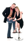 Male gigolo and woman admirer Royalty Free Stock Images