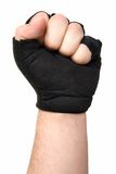 Male gloved fist. Isolated on white Royalty Free Stock Photography