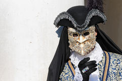 Male golden mask at Venice Carnival Royalty Free Stock Images