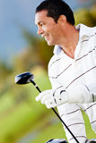 Male golf player Royalty Free Stock Photo