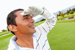 Male golf player Royalty Free Stock Photography