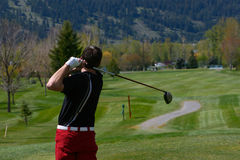 Male golfer Stock Images