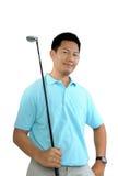 Male golfer stock image