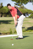 Male Golfer On Golf Course Stock Photos