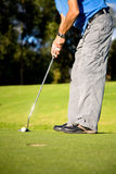 Male golfer about to shot Stock Image