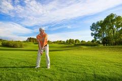 Male golfspelare Royaltyfri Bild