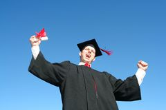 Male graduate Stock Image
