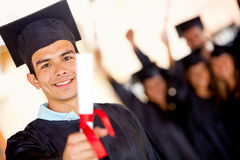 Male graduate Stock Images
