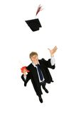 Male graduate Stock Photo