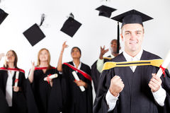 Male graduate at graduation Stock Photography