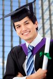 Male graduation portrait Royalty Free Stock Photography