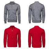 Male gray and red sweater Royalty Free Stock Photography