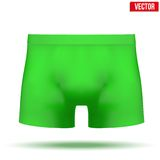 Male green underpants brief. Vector Illustration Royalty Free Stock Photos