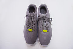 Male grey sport shoes Royalty Free Stock Images