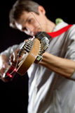 Male with guitar Stock Photos
