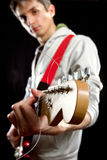 Male with guitar Royalty Free Stock Photos