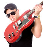 Male guitar player Royalty Free Stock Photo