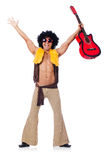 Male guitar player Stock Photography