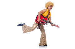 Male guitar player Royalty Free Stock Image